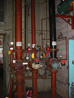 Fire sprinkler system before image